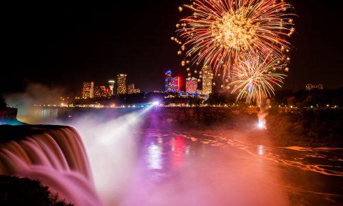 Nouvel an à Niagara Falls