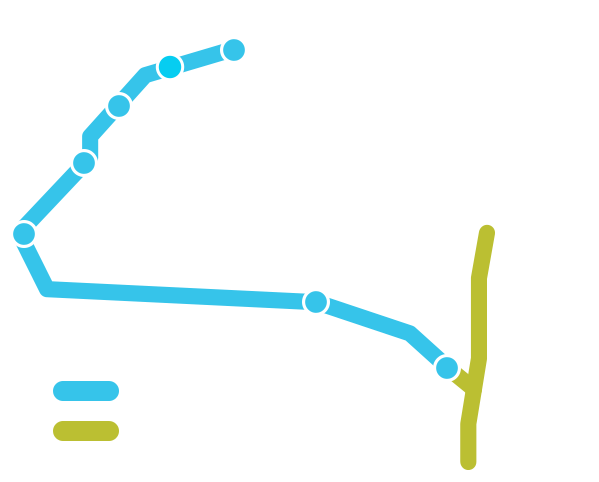 Map of seasonal service from Toronto to Niagara