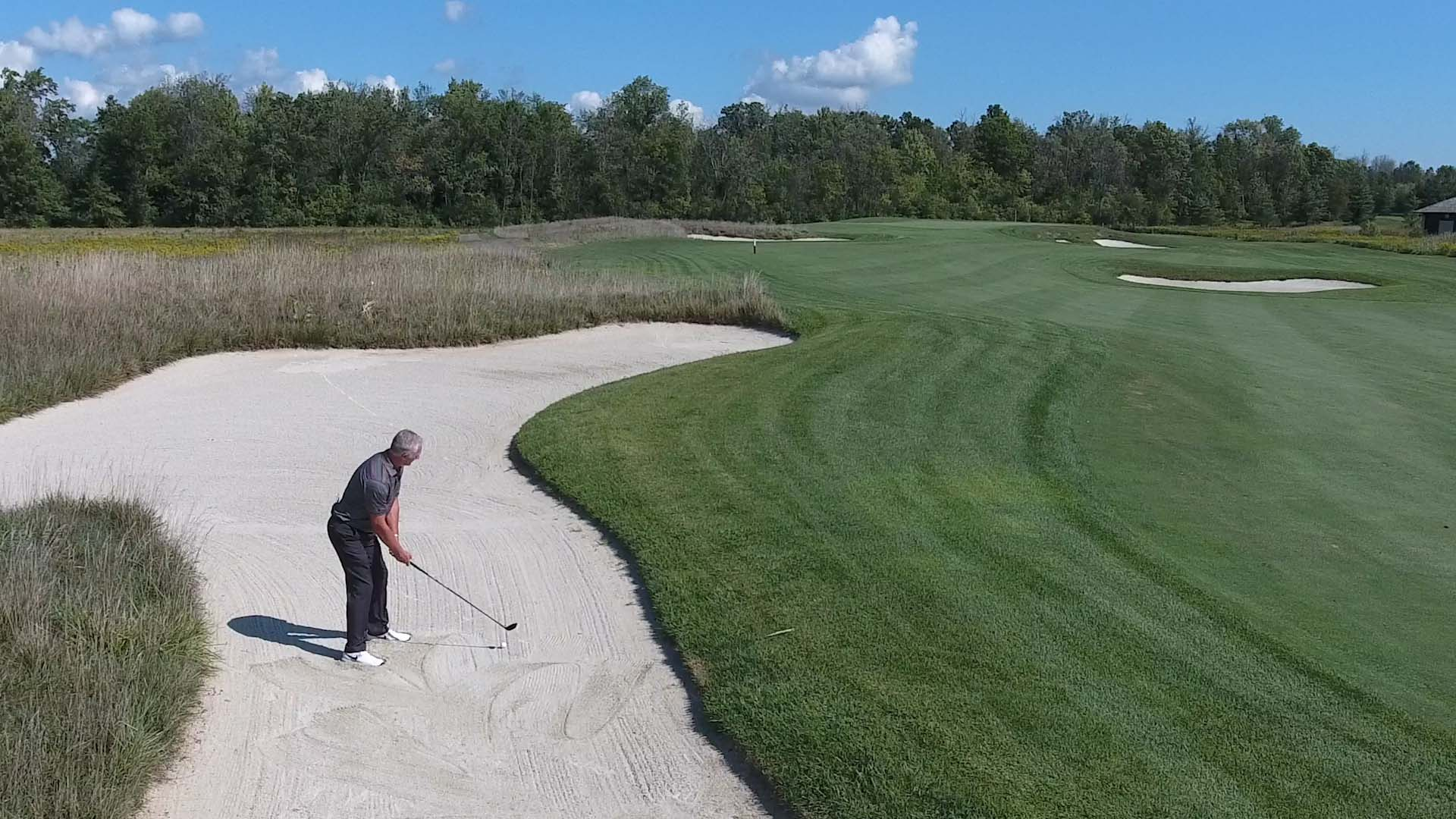Hitting from a Fairway Bunker
