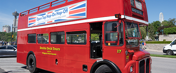 Red double deck bus