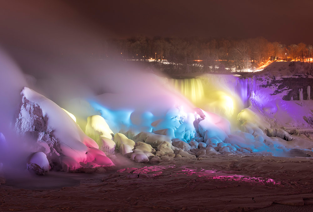 See the frozen falls