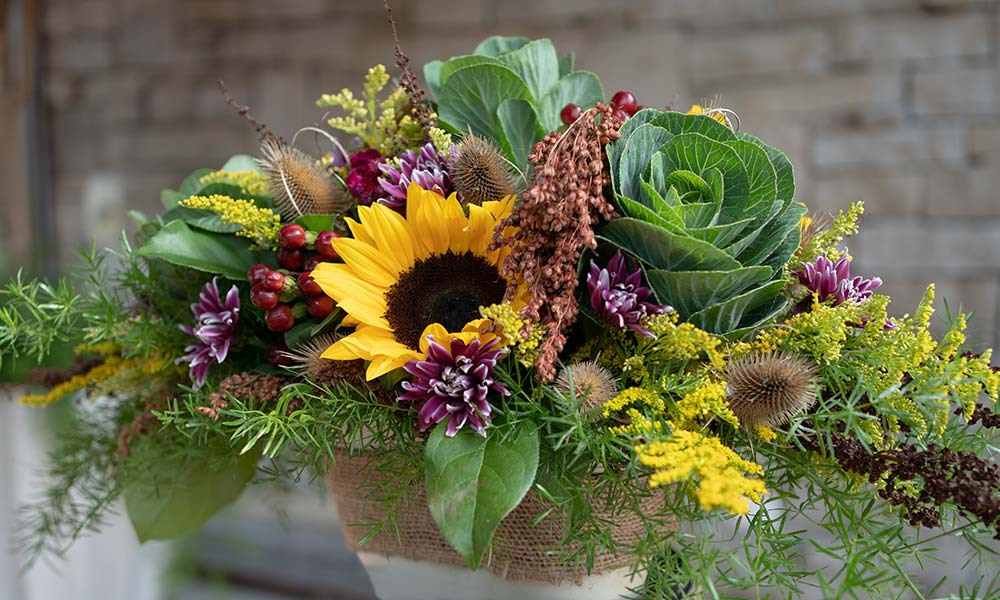 Your Harvest Floral Centrepiece