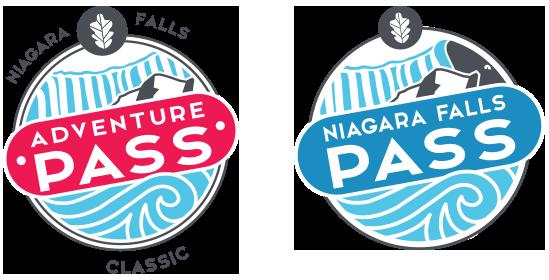 Niagara Falls Adventure Pass Classic and Niagara Falls Pass logos